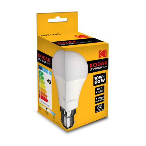 kodak globe led bulb a60 b22 10w/60w   day