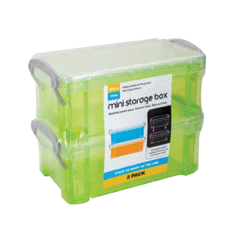 MINI STORAGE BOX 2PK 4 COL ASS