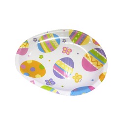 DECORATIVE EGG-SHAPED PLATE 28x23x2cm