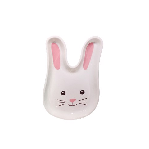 DECORATIVE RABBIT-SHAPED PLATE 28x23x2cm