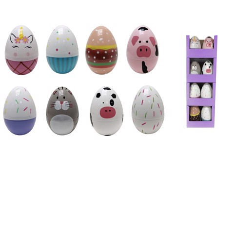 JUMBO EGG 17.5 x 25 Cm IN STACKED SRT   ASSORTED
