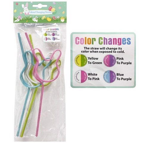 COLOUR CHANGING STRAWS 4PK