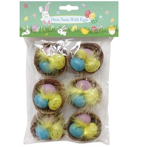 NEST WITH EGGS 6pk