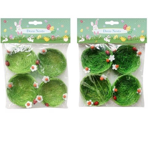 GREEN NEST 8 Cm 4pk   2 ASSORTED