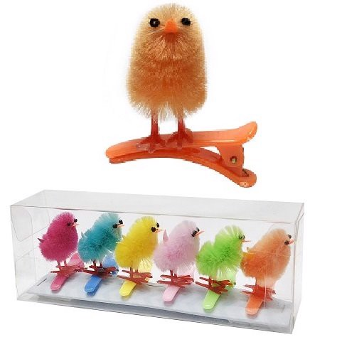 DECORATIVE CLIPS 6pk   CHICK