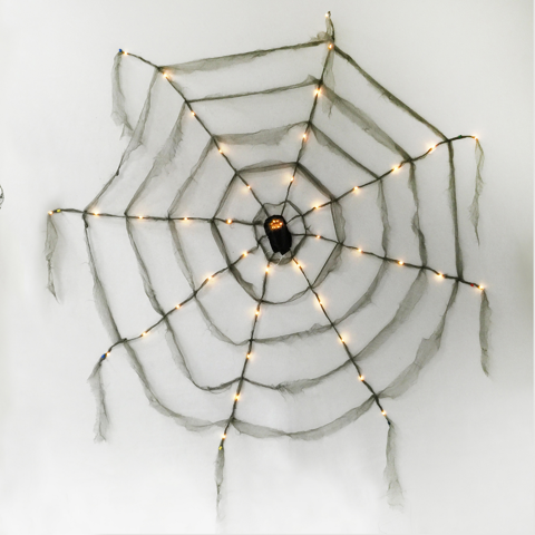 SPIDER WEB 2.2M WITH LIGHTS