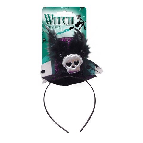 DELUXE WITCH HEADBAND 4 ASSORTED