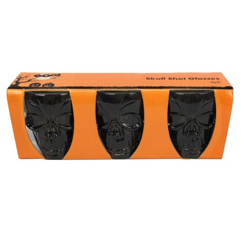 SKULL SHOT GLASSES 3PK 3 ASSORTED