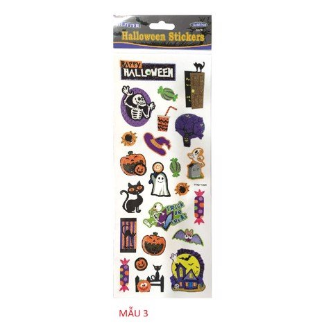 4 ASSORTED HALLOWEEN STICKERS