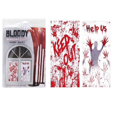 BLOODY WINDOW COVER 2pk