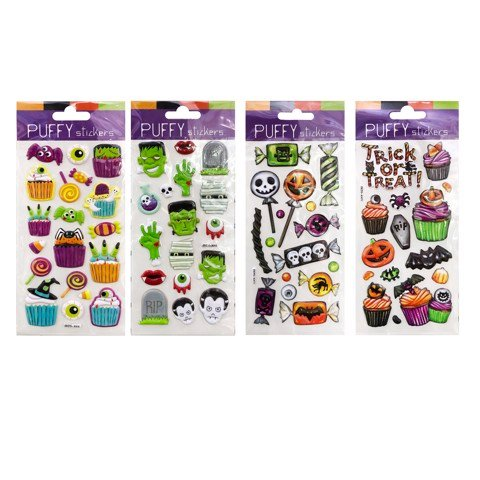 Sticker puffy 9*21- 4 mẫu Halloween UBL UH01430