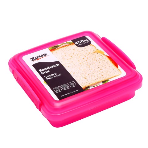 Sandwich-Box-Clear-Col-450Ml