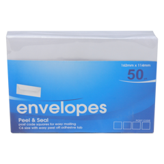 Envelope-Peel-&-Seal-C6-50Pk