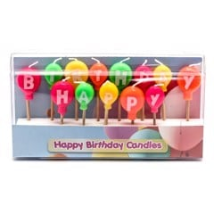 Candles Happy Bday Balloon 13Pk