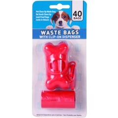 Pet Waste Bag + Dispenser 40Pk