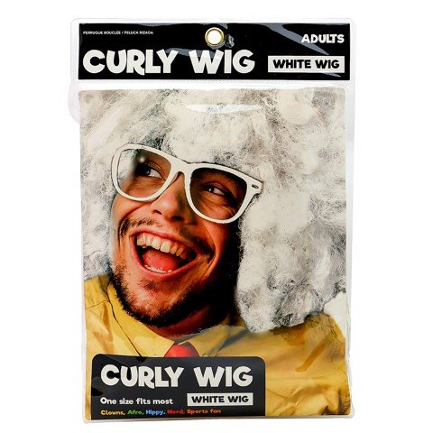Dress-Up-Curly-Wig-White