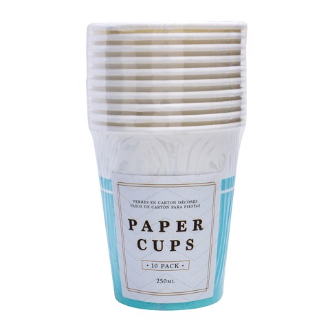 Party-Cups-250Ml-Teal-10Pk