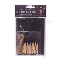 Chalk-Paper-Ph-Frame-W/Clips-6Pk