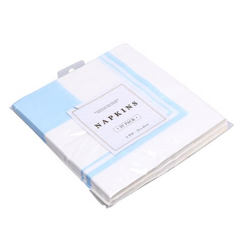 Party-Napkins-33X33Cm-Blue-20Pk