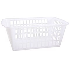 White-Utility-Shelf-Basket-Lge
