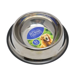 Pet Bowl Embossed St.Steel 1.3L