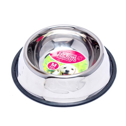 Pet-Bowl-Embossed-St.Steel-350Ml
