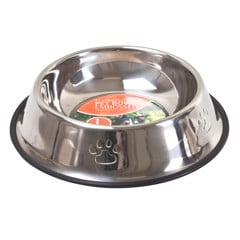 Pet Bowl Embossed St.Steel 900Ml