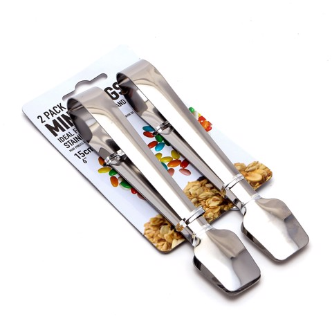 Tongs-Mini-S/Steel-15.5Cm-2Pc