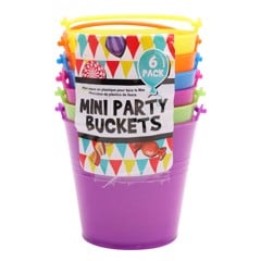 Party Mini Buckets Plastic 6Pc