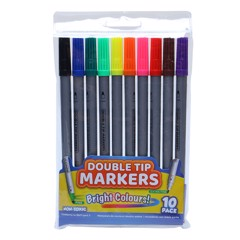 Colour-Markers-Dbl-Tips-10Pk
