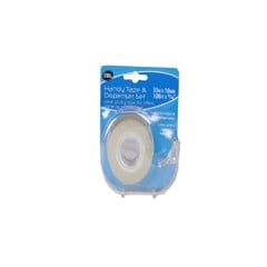 Sticky Tape 33M Roll W/Dispenser