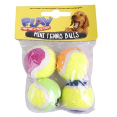 Pet Mini Tennis Balls 4Pc