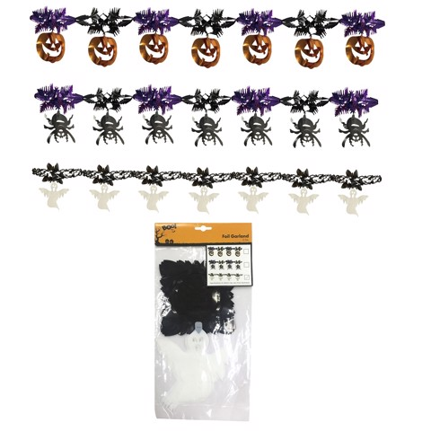 FOIL GARLAND 2 - 1.5M 3 ASSORTED