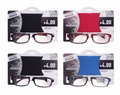 Reading Glasses W/Pouch +4.00