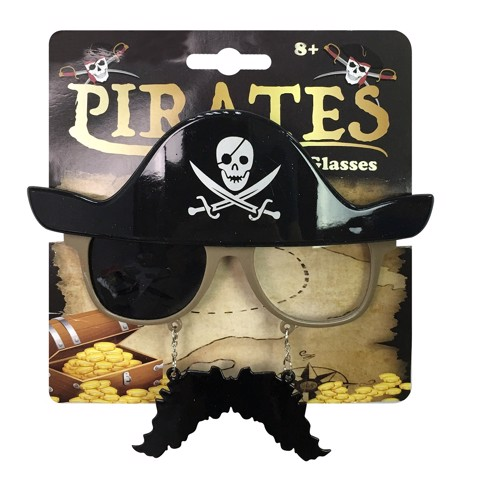 PIRATE GLASSES (MUSTACHE INCLUDED)