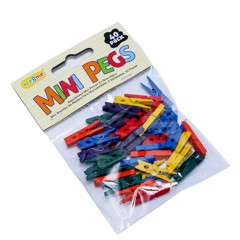 Craft-Pegs-Mini-Coloured-40Pc