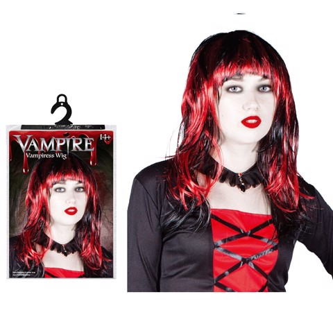 VAMPIRESS WIG ASSORTED RED/BLACK