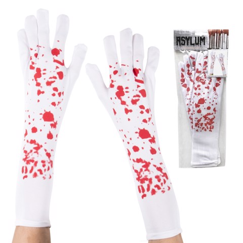 BLOODY EVENING GLOVES ADULTS