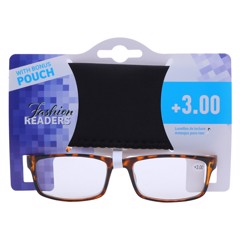 Reading Glasses W/Pouch +3.00