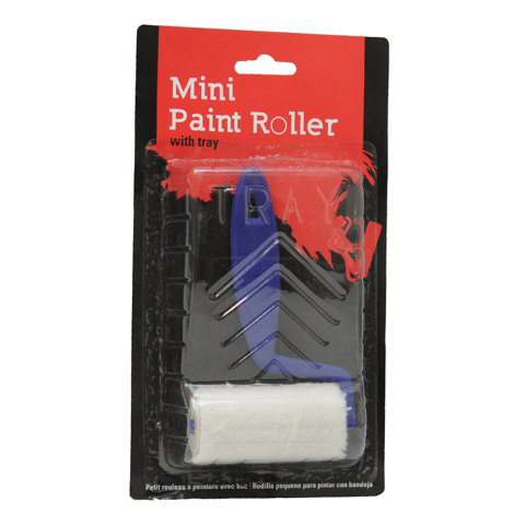 Paint-Roller-Mini-W/Tray-2Asst