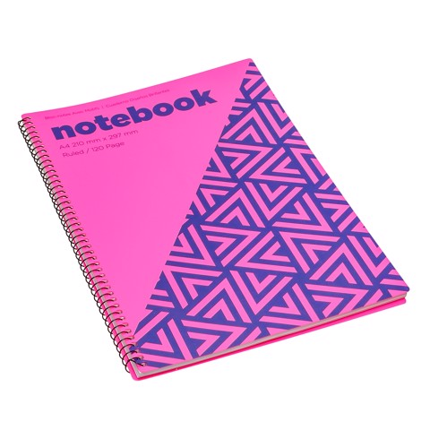 Notebook-Bright-Des-A4-120Pg