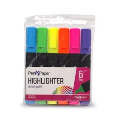 Highlighters-Chisel-Point-6Pk