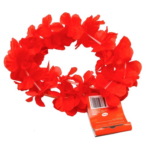 Flower Lei Necklace Red