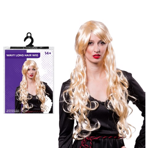 LONG BLOND PARTY WIG