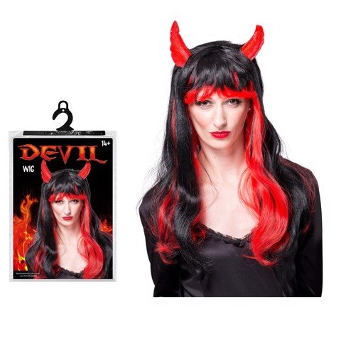 DEVIL WIG WITH STREAKS
