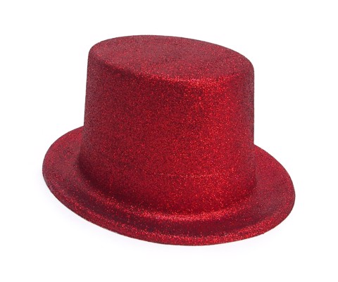Dress-Up-Top-Hat-Glitter-Red