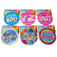 Flashing Jumbo Birthday Badge