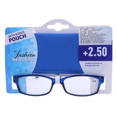 Reading Glasses W/Pouch +2.50