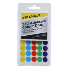 Adhesive Colour Dots 480Pk