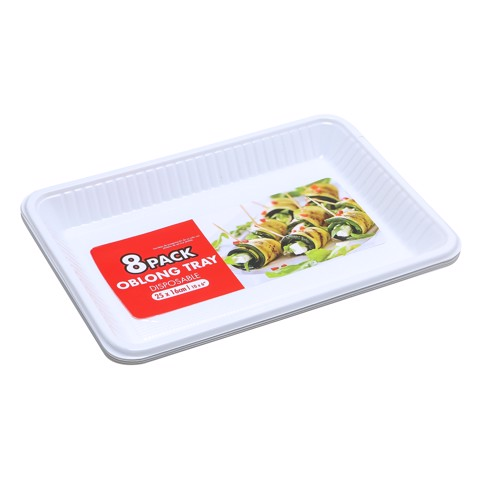 Partyware-Tray-Oblong-Wht-8Pk